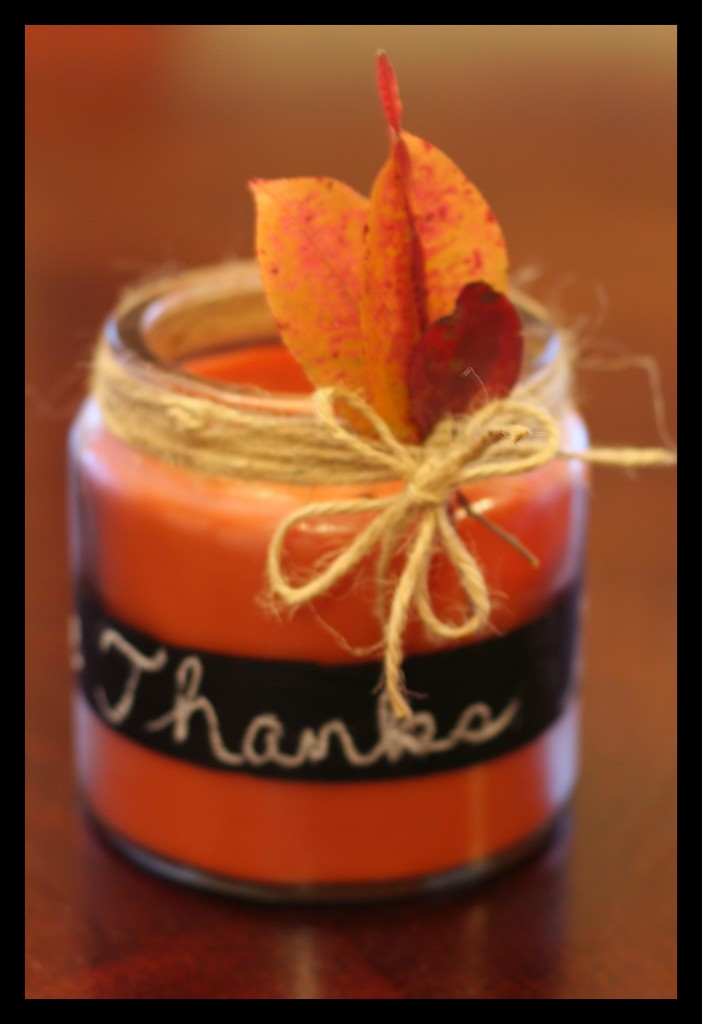 give thanks candle  702x1024 12 Crafts of Christmas {Chalkboard Paint}