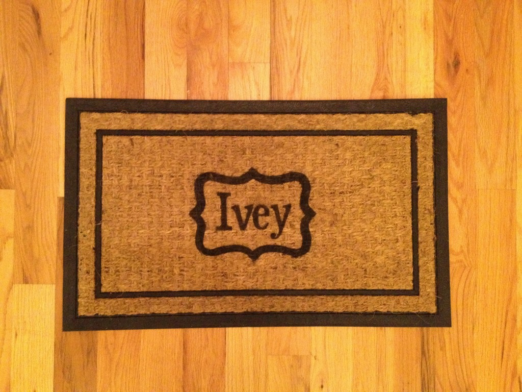 IMG 3846 1024x768 12 Crafts of Christmas {DIY Personalized Welcome Mat}