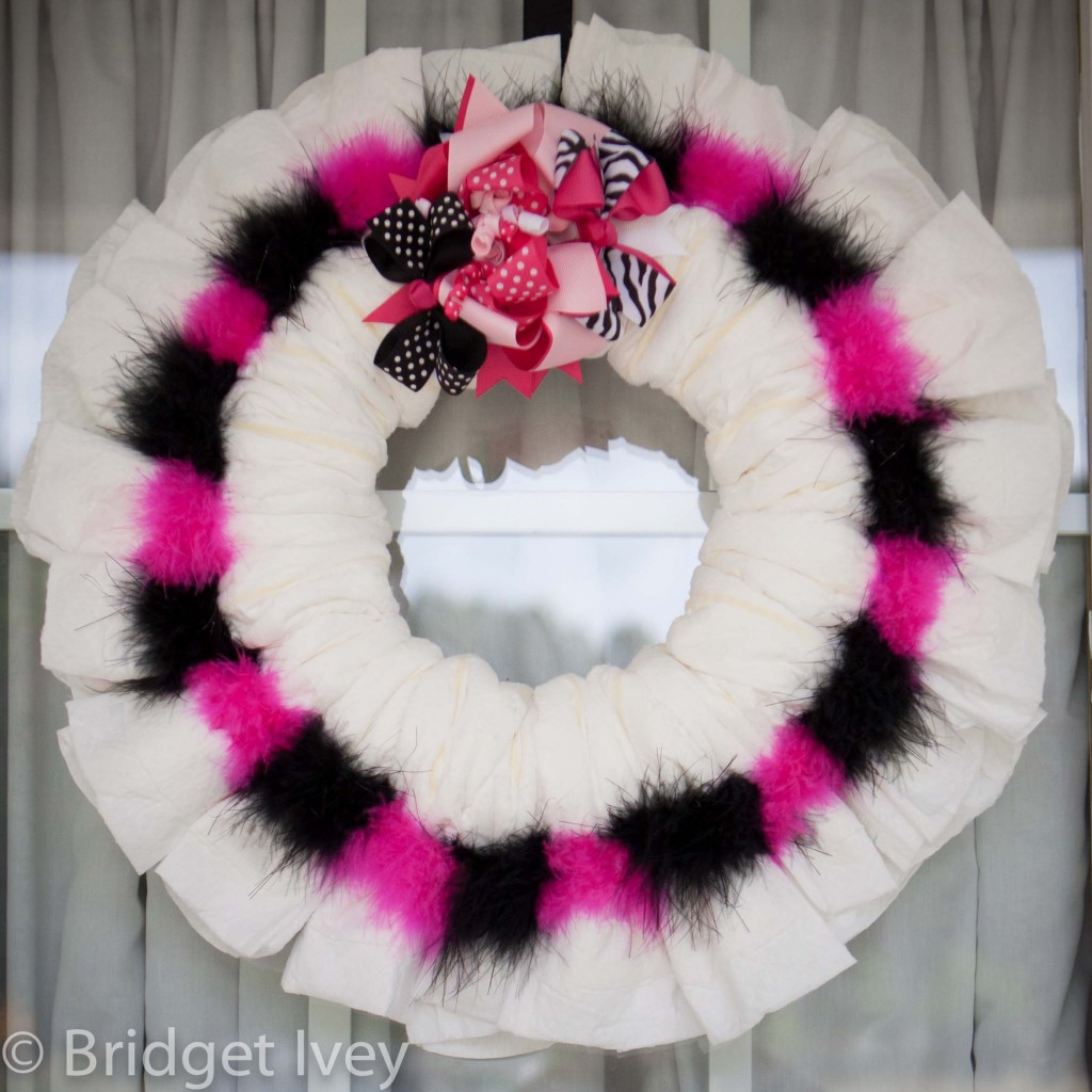 wreath web 1 1024x1024 DIY Diaper Wreath