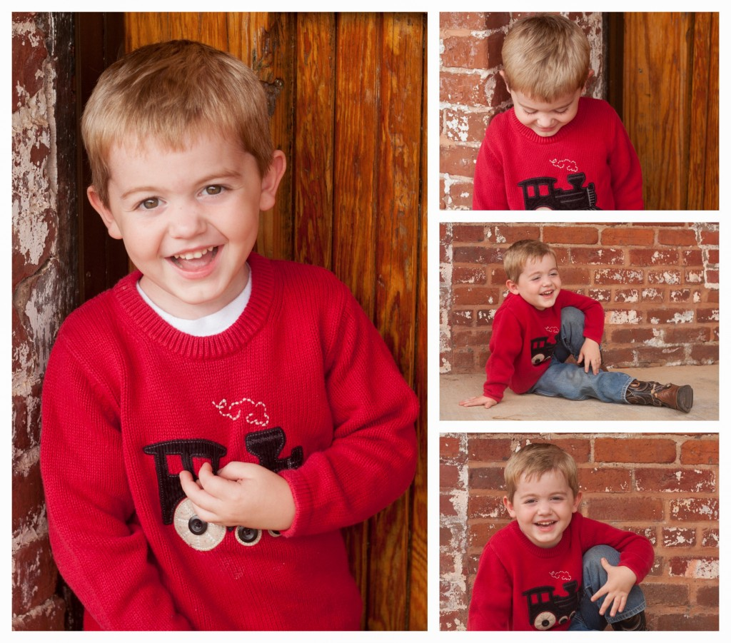 LIttlest Boy Red Train Sweater-1